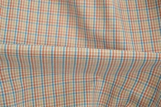 Orange Bordered Check Shirt