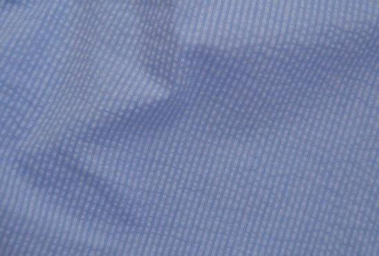 Blue Tonal Stripe Seersucker Shirt Fabric
