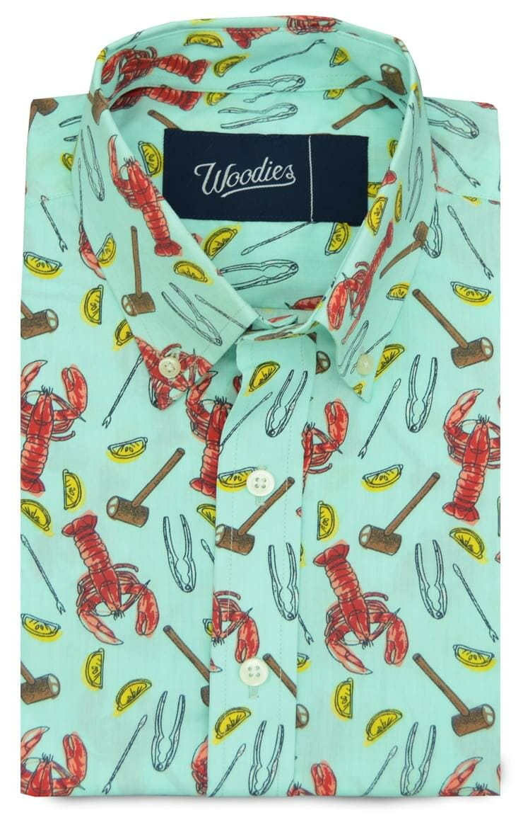 Lobster Feast Printed Shirt Custom Dress Shirts And Chinos By Woodies