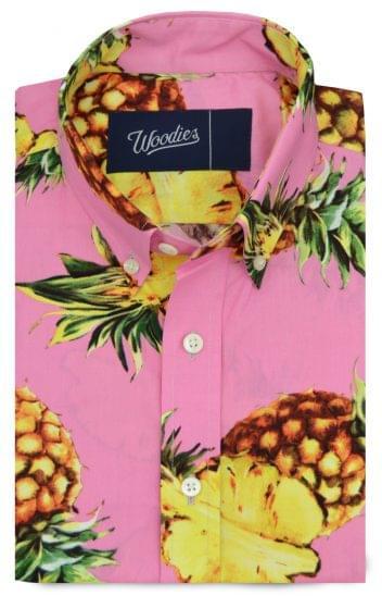 Pink Pineapple Printed Shirt
