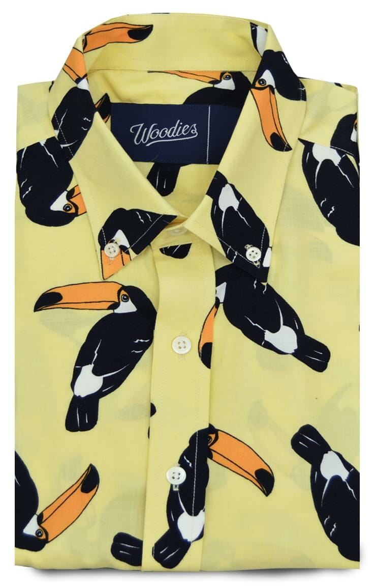 Toucan Printed Lightweight Shirt Custom Dress Shirts And Chinos By
