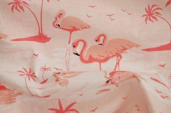 Flamingo Printed Shirt Fabric