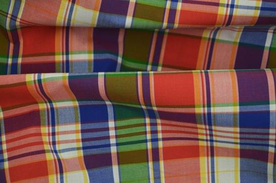 Classic Red Green and Blue Madras fabric 3
