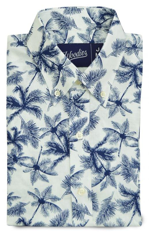Palm Tree Linen Aloha Shirt