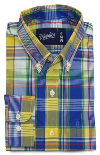 Yellow and Blue Plaid Madras