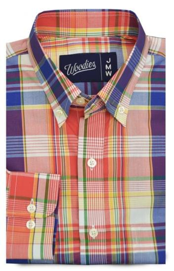 Multi Colored Fine Plaid Madras