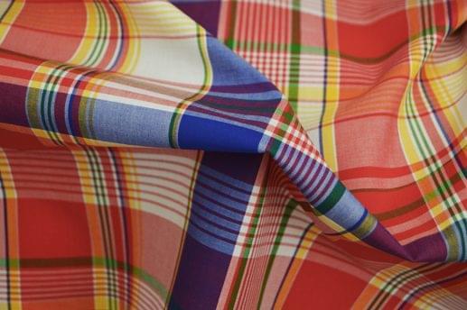 Multi Colored Fine Plaid Madras