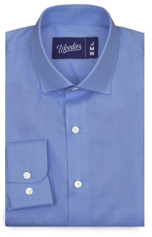Blue Plaid Easy Care Shirt