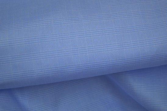 Blue Glenn Plaid Shirt Fabric