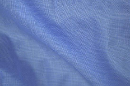 Blue Glenn Plaid Shirt Fabric