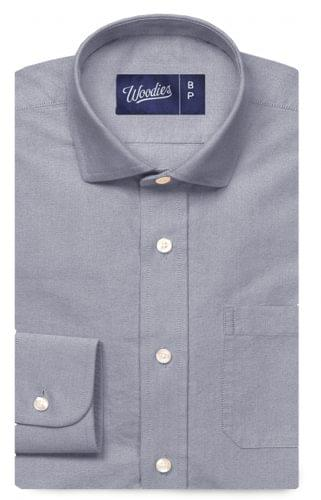 Blue Grey Oxford Shirt