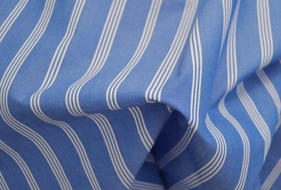 Amalfi Blue Multi Striped Shirt Fabric