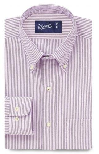 Lavender Oxford Stripe Shirt