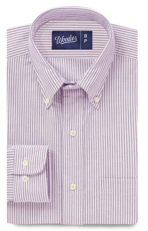 Lavender Oxford Stripe