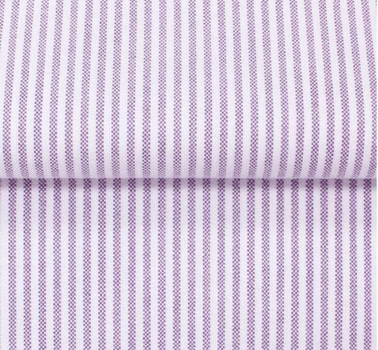 Lavender Oxford Stripe Shirt Fabric