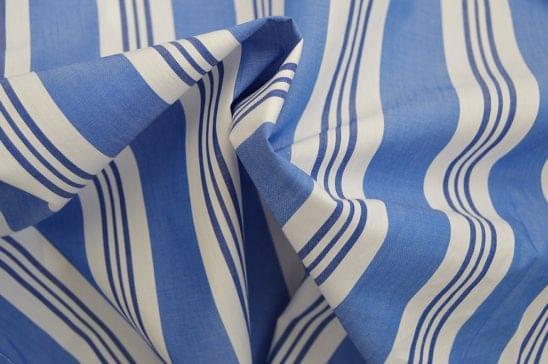 Wide Multi Stripe Shirt Fabric