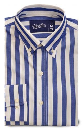 Wide royal blue stripe Shirt