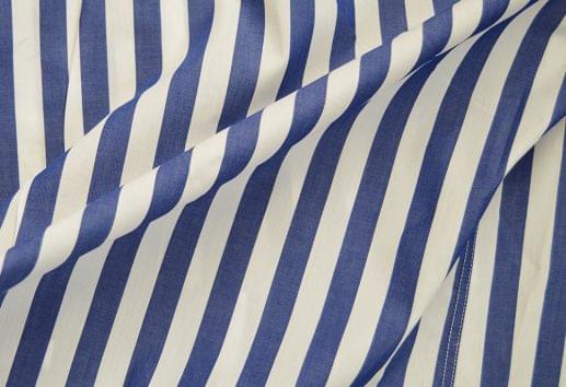 Wide Royal Blue Striped Shirt