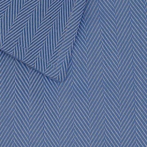 Blue Medium Herringbone Easy Care Shirt