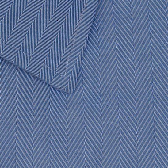 Blue Medium Herringbone Easy Care Fabric