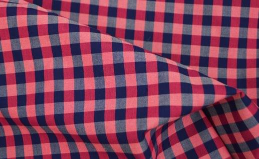 Pink and Blue Lux Gingham Shirt