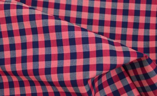 Pink and Blue Lux Gingham Shirt Fabric
