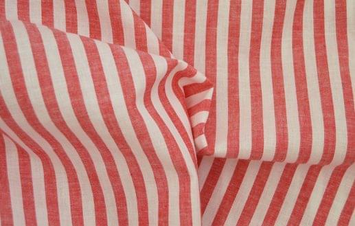 Red Chalk Stripe Linen Blend Shirt