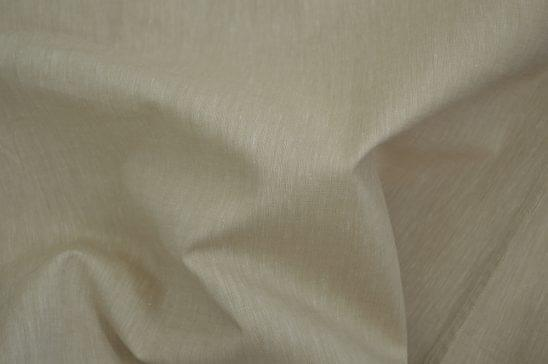 Solid Beige Linen Blend Shirt Fabric