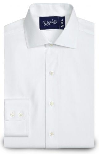 White Medium Herringbone Easy Care Shirt