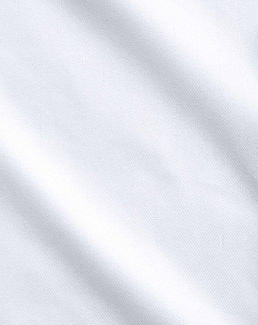 White Medium Herringbone Easy Care Shirt