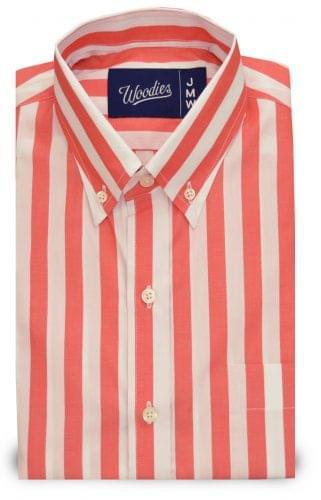 Wide Pastel Orange Striped Shirt