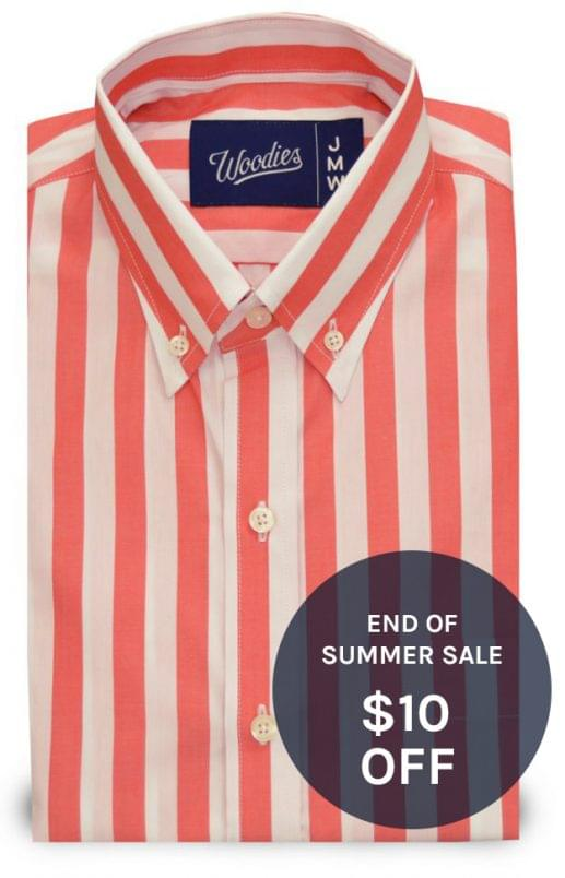 Wide Pastel Orange Striped Shirt