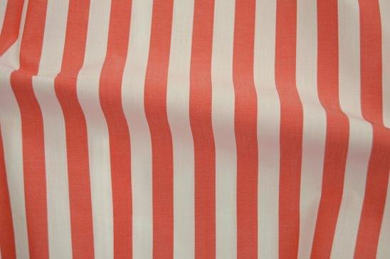 Wide Pastel Orange Striped Shirt Fabric