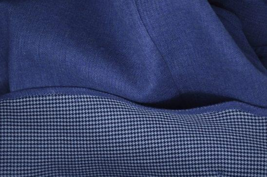 Double Sided Blue Flannel Fabric