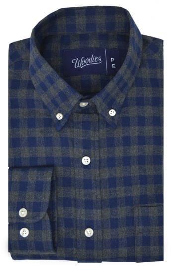 Blue & Grey Gingham Flannel
