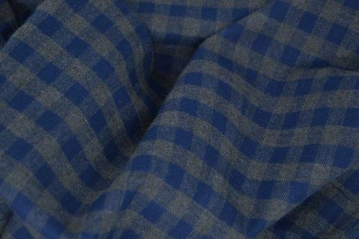 Blue & Grey Gingham Flannel