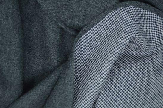 Dark Grey Double Sided Flannel Fabric
