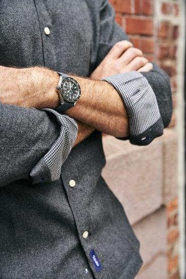 Dark Grey Double Sided Flannel on Figure