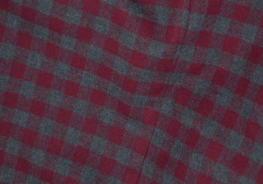 Maroon & Grey Gingham Flannel