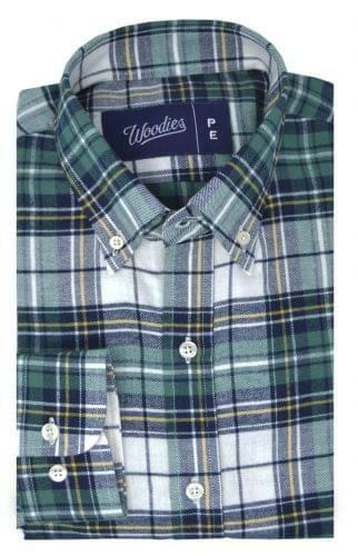 Green Tartan Flannel Shirt