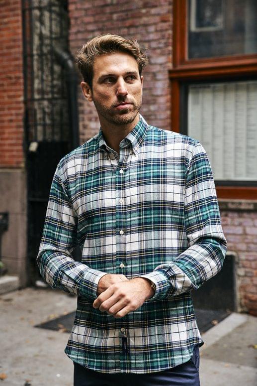 Forrest Green Tartan Flannel Shirt