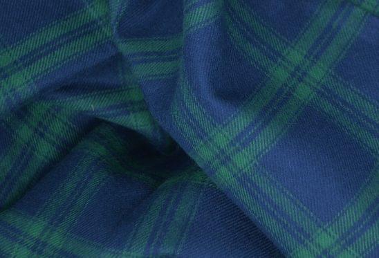 Green Plaid Flannel Shirt Fabric