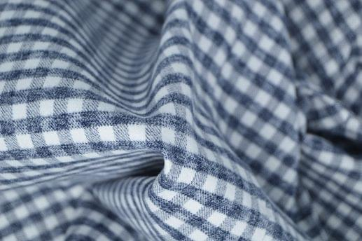 Heather Grey and White Gingham Flannel