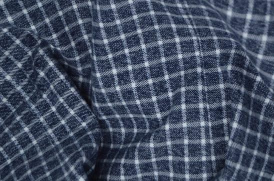 Heather Grey and White Tattersall Flannel Fabric