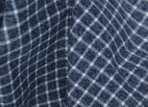 Heather Grey and White Tattersall Flannel