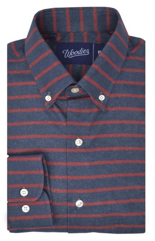 Horizontal Red Stripe Flannel