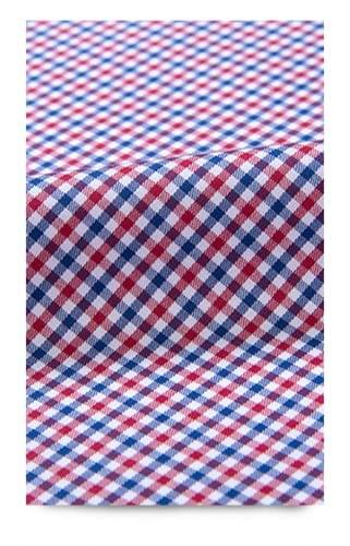 Red and Blue Gingham Stain Repelling Dress Shirt