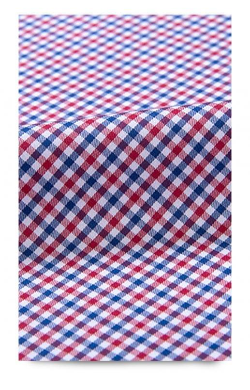 Red & Blue Gingham Stain Repelling Performance Shirt