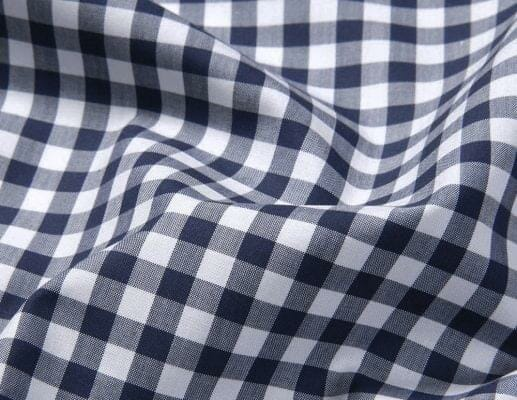 Navy Gingham Stain Repelling Performance Shirt