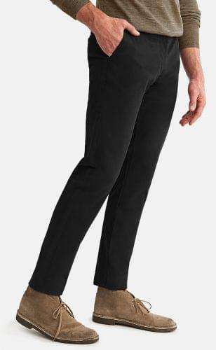 Black Stretch Washed Chinos